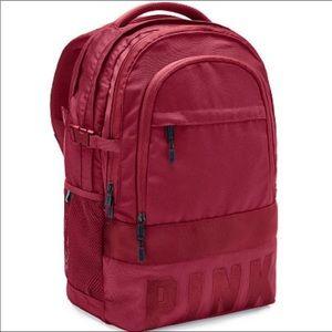 Vs pink red desire collegiate backpack Nwt